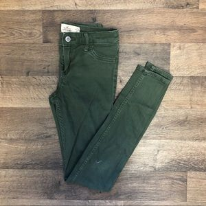Hollister Olive High Waisted Skinny Jeans